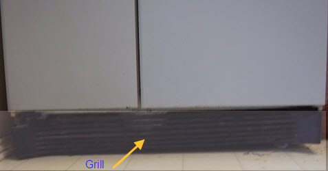 image of refrigerator grill